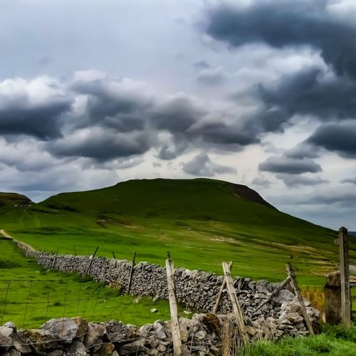 Mam Tor the shivering Mountain. Tree Oil Pump Social Issues Field Plowed Field Atmospheric Mood Cumulus Sky Only Rolling Landscape Cumulonimbus Dramatic Landscape Thunderstorm Patchwork Landscape Lightning Cultivated Land Moody Sky Overcast
