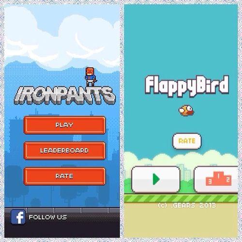 Flappy birdIronpants вот из за этих игр готов разбить телефон