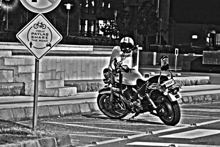 Black & White Chopper Helment Metu Muscle Vehicle Night Life Share Your Way Share Your Adventure Keeway