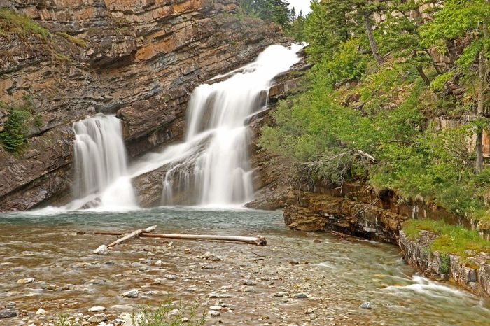 Cameron Lake Waterfall Nature Water Flowingwater Photography Flow  Finding New Frontiers