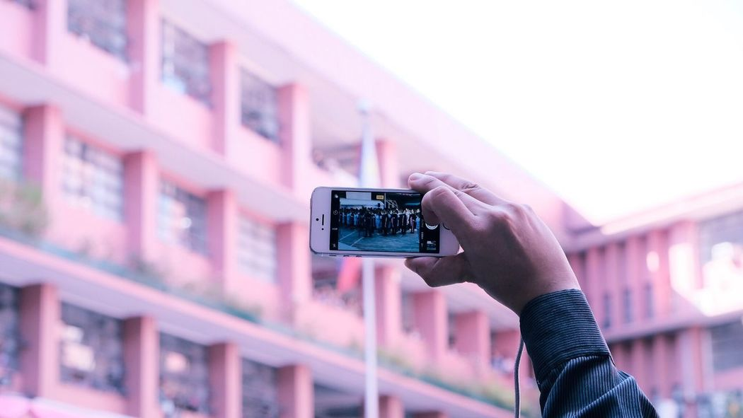 Live the moment. Photography Themes Photographing Technology Outdoors Adult People Only Men Filming Human Hand Modern Subtle Subtlelight EyeEm Best Shots Eye4photography  Eyeem Philippines EyeEm Gallery