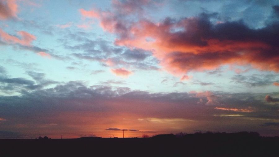 Normandie France Coucher De Soleil Sun Sky Blue Sky Red Sky Night Soir Champs Cote De Nacre