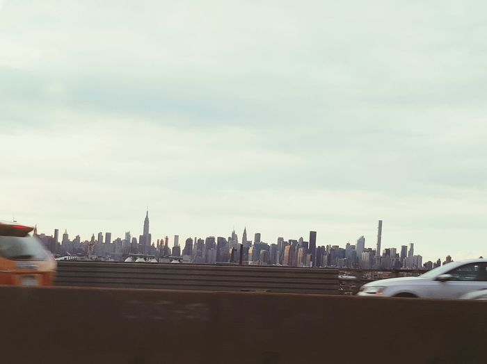 New York City View From The Car Showing Imperfection Unedited The Purist Manhattan Skyline Cityscapes Done That. Summer Road Tripping