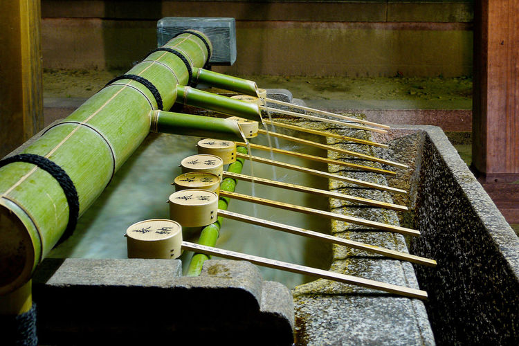 clean our body and mind at water place before entering the shrine. yasaka shrine, gion district, kyoto, japan~ Bamboo Clean Culture Japan Kyoyo Mind  Pipe - Tube Temple Tourism Travel Ultimate Japan Water Water Place Showcase July
