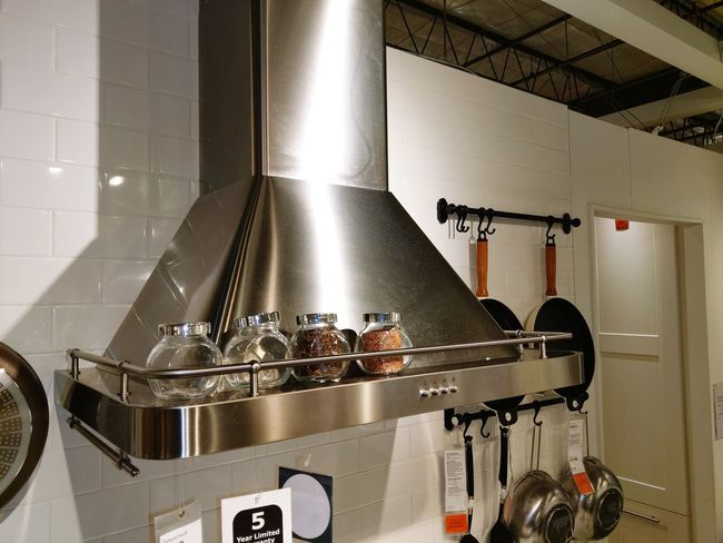 Range Food And Drink Establishment Commercial Kitchen Water Stove Domestic Kitchen Steel Exhaust Fan Air Duct Stainless Steel  Alloy Brushed Metal Sheet Metal Aluminum Electric Fan Gas Stove Burner