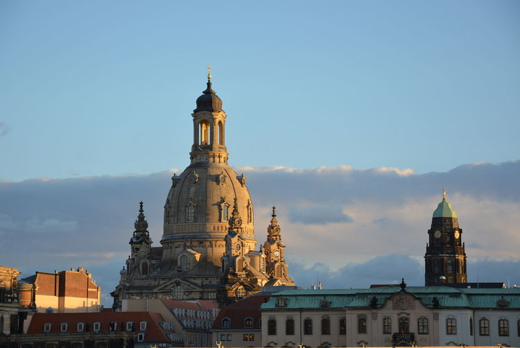 Frauenkirche Dresden Architecture Built Structure Building Exterior Building Sky Place Of Worship Religion Spirituality Belief Travel Destinations Travel City Tower Tourism Nature The Past History No People Outdoors Spire  Dome Church Dresden Frauenkirche Dresden Sky And Clouds