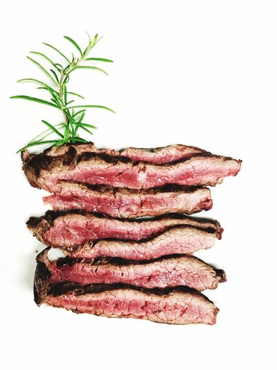 Meat Beef Steak Food And Drink Food Cut Out Rosemary White Background Raw Food Barbecue Studio Shot Herb Ground Beef No People Rib Minced Freshness Close-up Tagliata