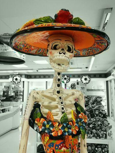 Multi Colored Tradition Skeleton Mexico Mexican Art MexicanTradition Celebration La Catrina ~ Cultures Colors