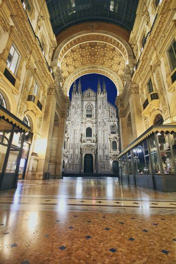 Milano è sempre Milano Milano Italy Built Structure Architecture Building Religion Place Of Worship Building Exterior Belief Arch History Travel Destinations Ornate Illuminated The Past Spirituality Architectural Column Ceiling Tiled Floor No People Tourism Flooring