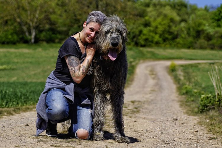 Photo by Allahobb ♥️ Animal Dog Outdoors Happiness Domestic Animals Animal Themes Mommys Boy❤ Willi The Wolfhound Irish Wolfhound Gentle Giant Happiness ♡ Dog Lovers🐾 Springtime Have A Nice Day♥ Nature Bonding Moments Lovelovelove Hello World ❤ Togetherness Of Soul