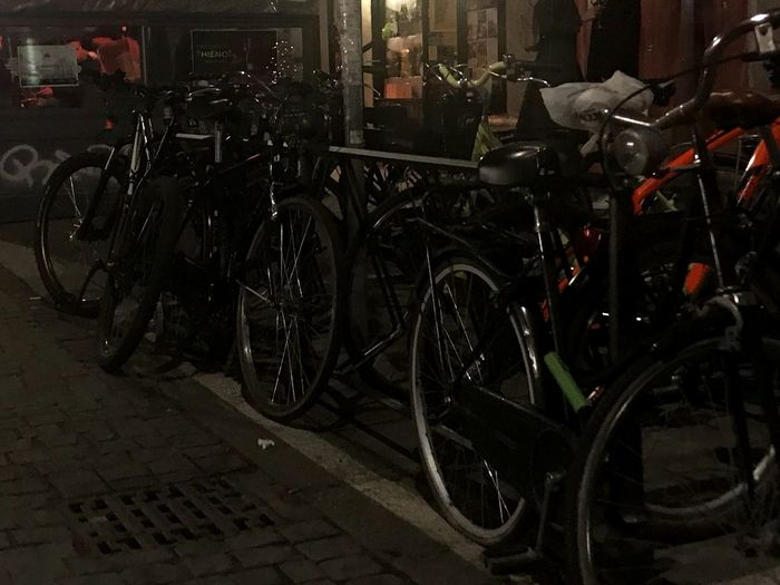 Happening Via Sarpi Milano Streetphotography Buzzing Eyem Select Night View Nightphotography No People Bike Sharing All Over Bicycles Milan Chinatown Bicycle Stationary Transportation Land Vehicle Mode Of Transport Parking Bicycle Rack Outdoors No People