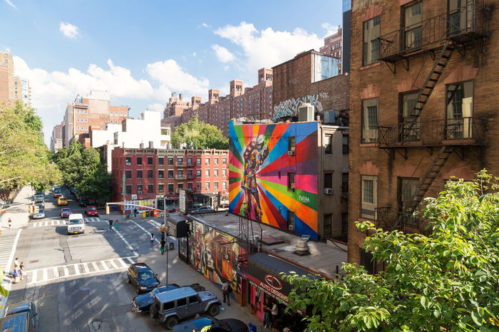 Art Is Everywhere City Street Graffiti Highline Park New York City Urban Geometry Architecture Building Exterior Built Structure City Cityscape Multi Colored Travel Destinations