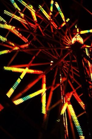 Richland County Fair Ferris Wheel Fair Night Lights