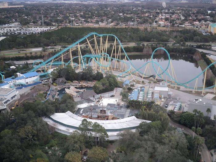 Rollercoasters from above Rollercoaster Track Entertainment Park High Angle View Landscape Outdoors Cityscape