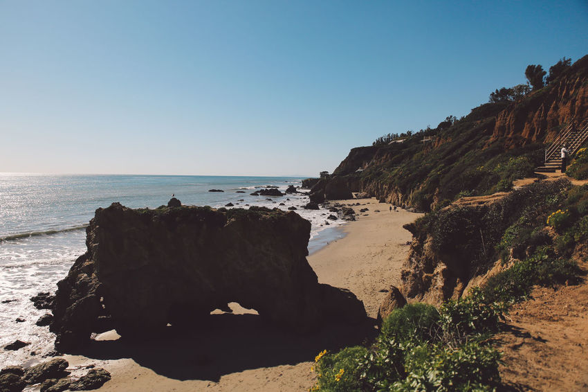 California El Matador Beach Pacific Beach Beauty In Nature Clear Sky Cliff Day Horizon Over Water Nature No People Ocean Outdoors Rock Rock - Object Rock Formation Sand Scenics Sea Sky Sunlight Tranquil Scene Tranquility Water California Dreamin