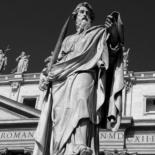 Myrome Rome Art Statue Stpeter VaticanCity Stpaulssquare Italy Blackandwhite Mono Lifeasiseeit Johnnelson
