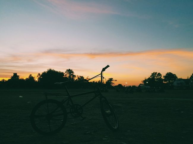 Sunset Tree Nature Sky Beauty In Nature No People Thailand Bike Bicycle Evening Enjoying The Sun
