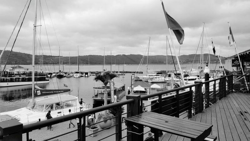 It's Cold Outside South Africa Peaceful Outdoors Clouds Knysna Boats Habour View Knysna Lake