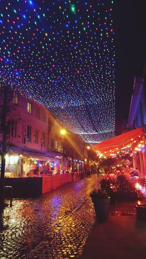 twinkle in the night Lights Lights In The Dark Rainy Days Social Bars Night Illuminated Building Exterior Built Structure Large Group Of People Celebration Outdoors