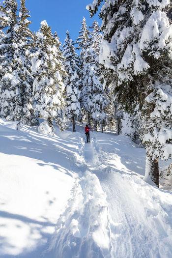woman hike in