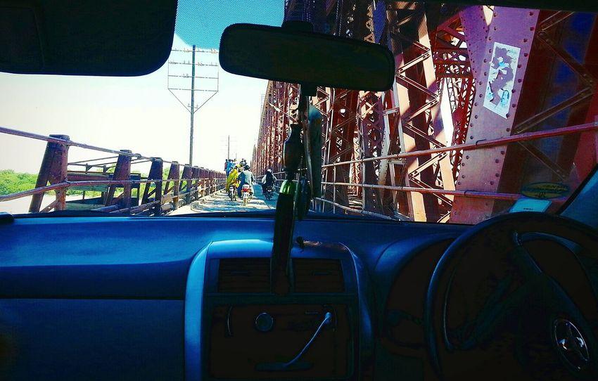 - Kotri Bridge. Mode Of Transport Transportation Car Steering Wheel Windscreen Sky Outdoors Car Interior Vehicle Interior Transparent Window Glass - Material Stationary Windshield Land Vehicle Indus River Sindh Rivit British Bridge
