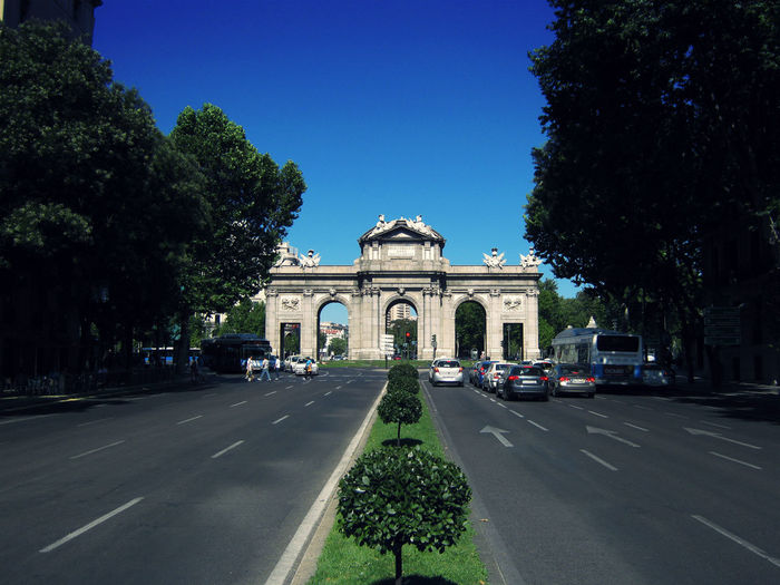 Ancient Arch Architectural Column Architecture Building Exterior Built Structure Column Composition Famous Place Historic History International Landmark Leading Madrid Monument Old Ruin Outdoors Perspective Religion Statue The Way Forward Travel Destinations