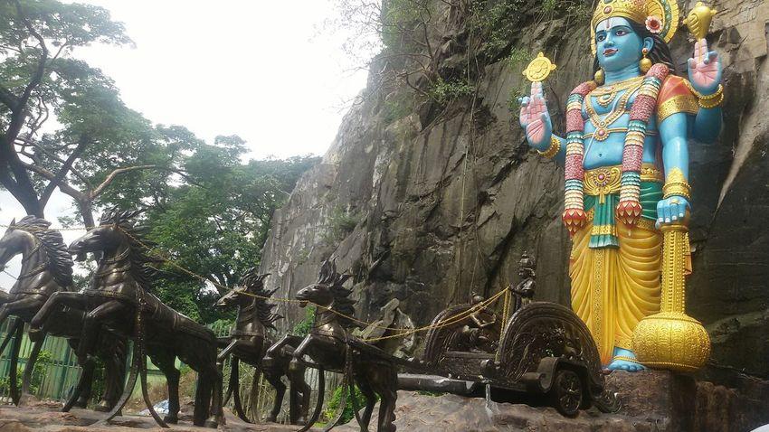 Tree No People Statue Outdoors Day Kuala Lumpur Malaysia  Cave Sculpture Statue God Buddha Ramayana Ramayana Cave Batu Caves -Malaysia Batu Caves Horses