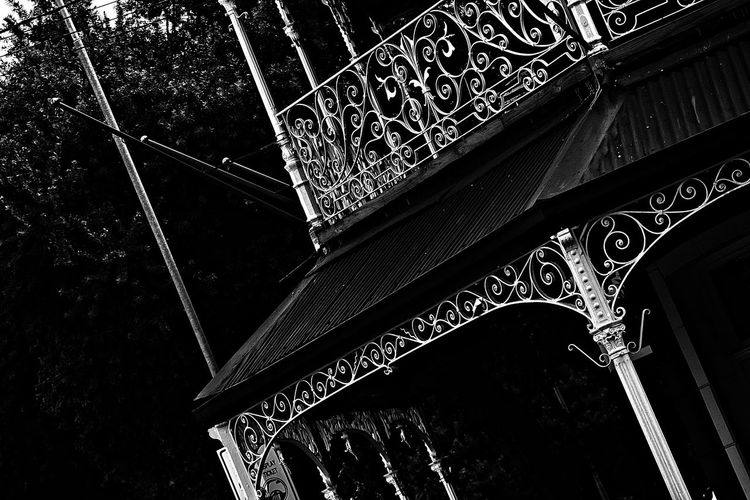 Downtownjohannesburg Vintage Pattern Architecture Kitchners Balcony Black And White Photography Streetphoto_bw Streetphotography Tilt