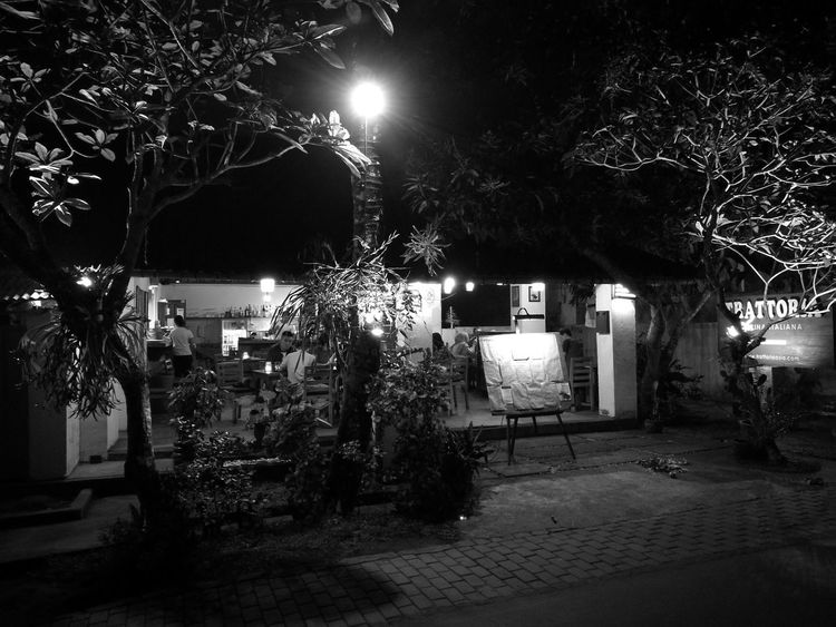 Night Illuminated Tree Outdoors Architecture No People Sky Black & White EyeEmNewHere Bali, Indonesia Travel Destinations Architecture Built Structure Building Exterior Street Light