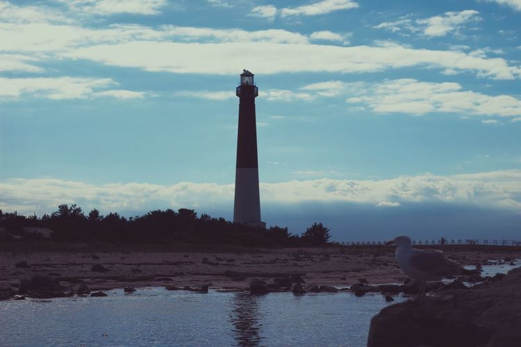 Photography New Jersey Lighthouse Live For The Story The Great Outdoors - 2017 EyeEm Awards Sky Cloud - Sky Built Structure Architecture Water Day Outdoors Nature Lighthouse No People Beauty In Nature Tranquility Clear Sky Beach EyeEmNewHere