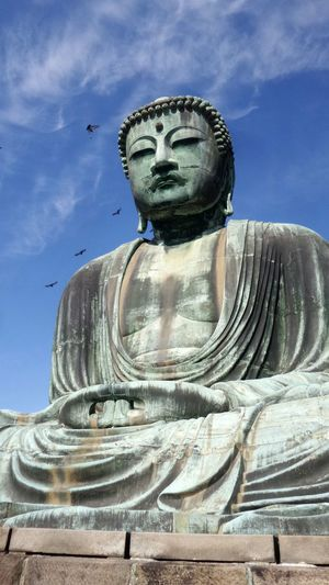 Buddha Greatbuddha Kōtoku-in Kamakura Madeinjapan Bluesky Sky And Birds
