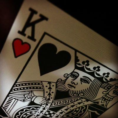 King of Hearts BicycleWhiteGhost Playingcards King Hearts