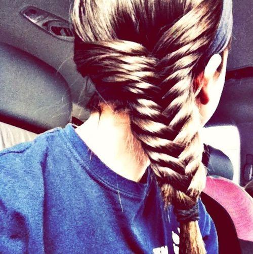 fish tailed my hair (: