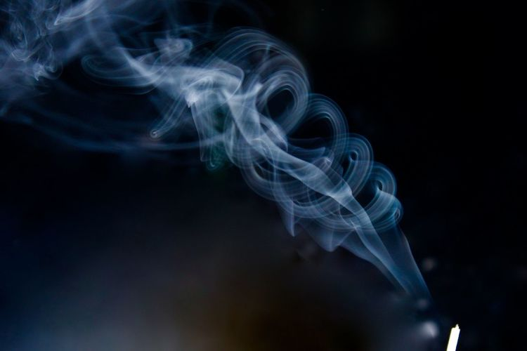 Close-up of smoke in darkroom