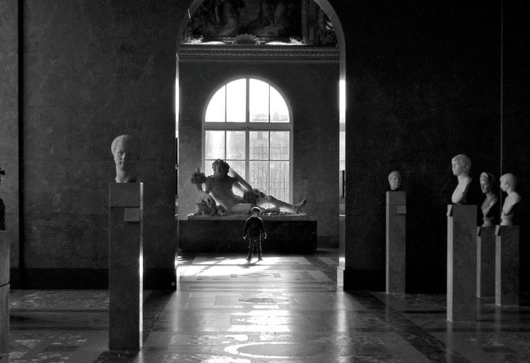 Light Louvre Architecture Blackandwhite Photography Child Childhood Day Full Length Indoors  Museum One Person Portrait Portrait Of A Child Real People Sculpture Window