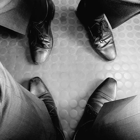 Low Section Person Shoe Footwear Personal Perspective Modern Travail Job Go To Work Morning In The Train Dans Le Train Matin Pas De Vacances No Vacancy Black & White Blackandwhite Black And White Photography Contrast Monochrome Photography