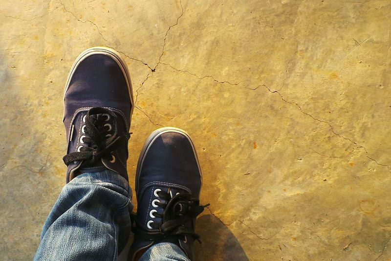 Off The Wall~ Vans Since 66 Floortraits Taking Photos Shoes Learn & Shoot: Simplicity Minimalism Minimalist Blue Shoes Floor Footwear Sneakers