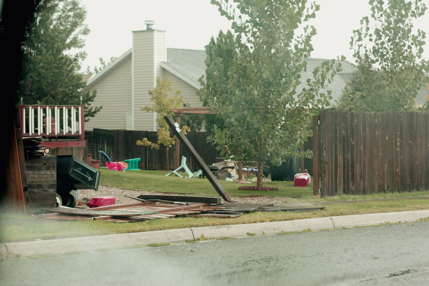 Images from the microburst and tornado that hit my neighborhood this afternoon. It came out of nowhere, hitting very quickly. We did not have much damage to our house, only some shingles came off the roof and trash to clean up. Our neighbors had trees fall and fences torn apart. Thursday, September 22, 2016. 2016 America Autumn Bad Weather Cold Damaged Emergency Equinox Extreme Fall Flood Layton Microburst Natural Disaster Nature Rain Riverdale September Storm Tornado Utah Weather Wind