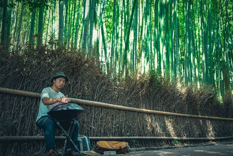 Performer  Street Performer Streetphotography Street Photography Kyoto Japan Bamboo Tree Nature Breathing Space