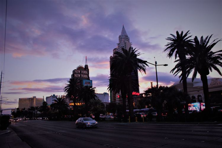 Las Vegas.... Architecture Building Exterior Car City Life Cityscape Clouds And Cars Dusk No People Outdoors Street Sunset Travel Destinations Urban Skyline