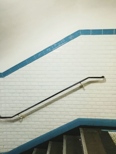 Railing Steps Steps And Staircases Staircase No People Day Indoors  Architecture Underground Châtelet Les Halles Paris Chatelet Paris Metro
