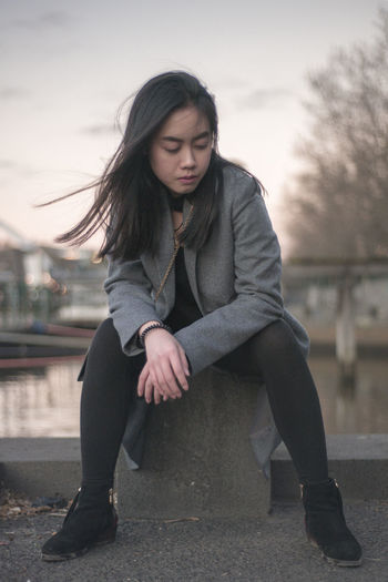 Untitled Beauty Casual Clothing Lifestyles Model Mood One Person Outdoors Real People Sitting The Fashion Photographer - 2018 EyeEm Awards