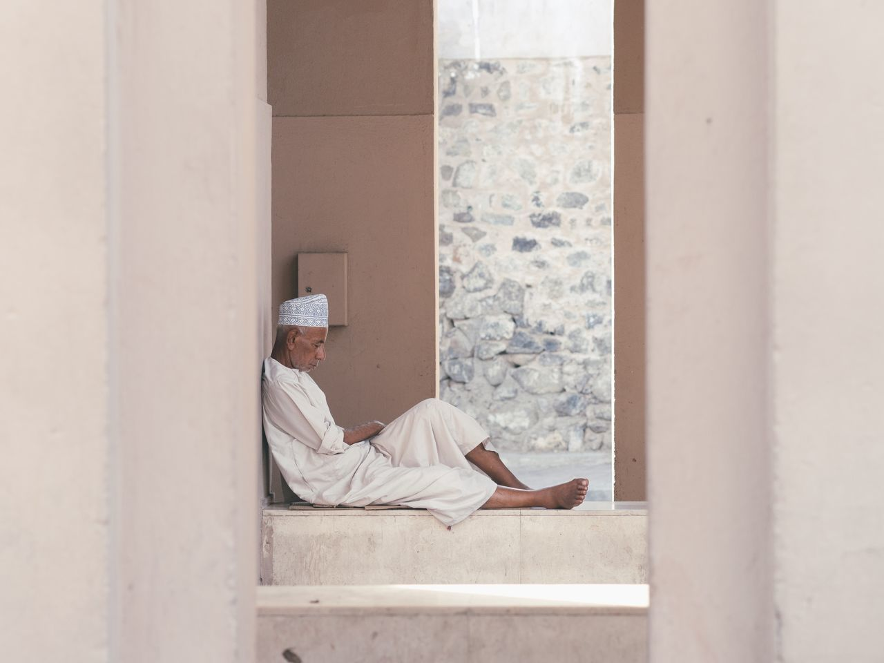 relaxation, one person, real people, architecture, window