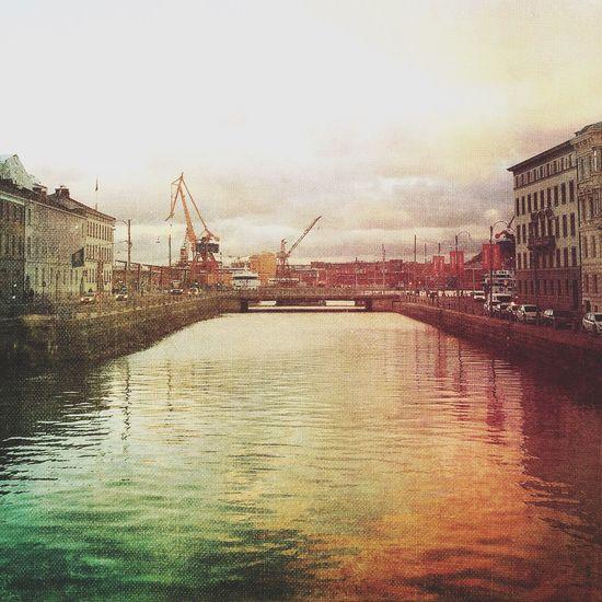 Harbor Harbour Architecture Canal Gothenburg