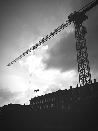 Crain Denmark Copenhagen, Denmark Copenhagen Construction Construction Site Tall Black And White Photography Black & White Black And White Monochrome Photography TakeoverContrast