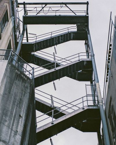 Stairway to heaven Railing Staircase Architecture Built Structure Steps And Staircases Low Angle View Day Outdoors No People Sky