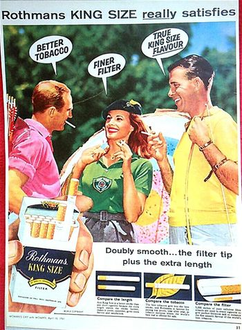 Posters Tobacco Cigarettes Smokes 1961 Poster Collection Rothmans Poster Posterart Oldposter Posterporn Cigarettes Kill TobaccoKILLS Smokingkills Cigaretteskill Rothmansracing King Size Kingsize Postercollection Smoking Smoking Kills Cancer Sticks Oldposters Old Poster Color Photography