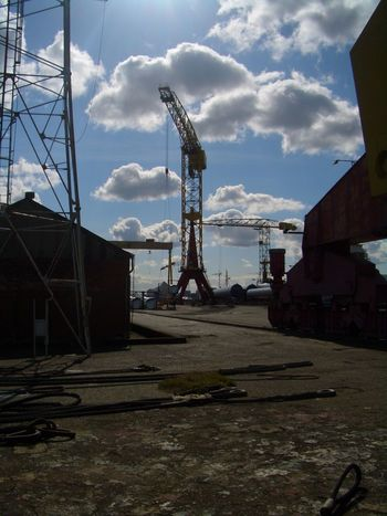 Crane Shipyard Shipbuilding Yard Yellow Harland&Wolff Harland And Wolff Samson Dry Dock Belfast Northern Ireland Industrial Industrial Landscapes Industrial Photography