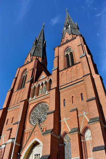 Uppsala Cathedral 🇸🇪 Gothic Architecture Gothic Style Uppsala Kathedral Uppsala Cathedral Uppsala Domkyrka Uppsala Low Angle View Built Structure Architecture Building Exterior Building Sky Place Of Worship Spirituality Belief Tower Religion Travel Destinations Blue Day Gothic Style