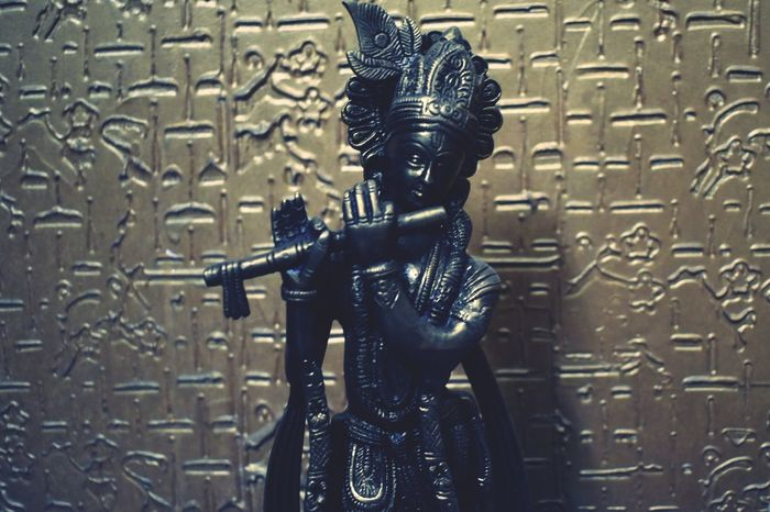 Lord krishna EyeEmNewHere Statue Representation No People Religion EyeEmNewHere Spirituality Built Structure Creativity Architecture Craft Metal Close-up